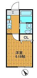 神奈川県相模原市南区上鶴間本町4丁目の賃貸アパートの間取り