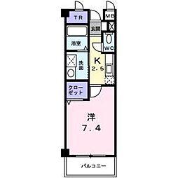 シャン・ド・フルール岸和田[3階]の間取り