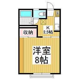フォーブルエース[2階]の間取り