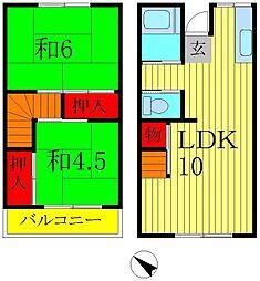 [テラスハウス] 千葉県流山市流山8丁目 の賃貸【/】の間取り