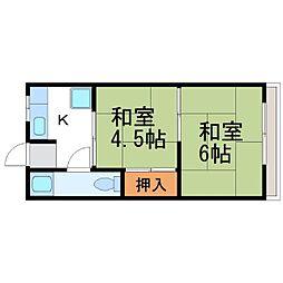 カキウチビル[3階]の間取り