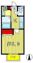 セレーナ上本郷B棟[2階]の間取り