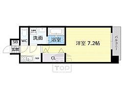 Osaka Metro谷町線 野江内代駅 徒歩9分の賃貸マンション 7階1Kの間取り