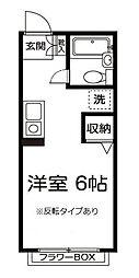 エステート金沢[0205号室]の間取り