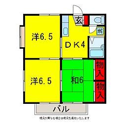 グレース五井A・B[2階]の間取り