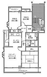 UR千葉ニュータウン プロムナード桜台3番街[3-506号室]の間取り