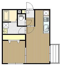 Kafuu Residence N35 (カフーレジデンス)[2階]の間取り