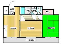 オレンジハウス八尾[2階]の間取り