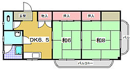 大阪府枚方市翠香園町の賃貸マンションの間取り