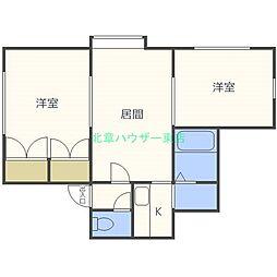 北海道札幌市東区北三十六条東28丁目の賃貸アパートの間取り