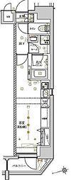 東京メトロ日比谷線 入谷駅 徒歩7分の賃貸マンション 2階ワンルームの間取り