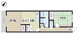 ヒルトップ動坂[2階]の間取り