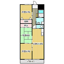 愛知県名古屋市港区十一屋3丁目の賃貸マンションの間取り