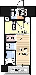 アクアプレイス京都西院[508号室号室]の間取り