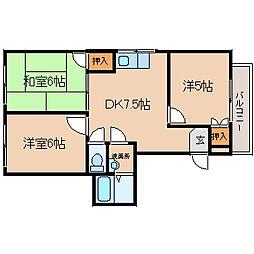 兵庫県尼崎市長洲中通2丁目の賃貸アパートの間取り