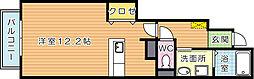 サンフレイムYABEII B棟[1階]の間取り