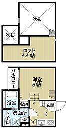 Casa del canario諏訪ノ森[1階]の間取り
