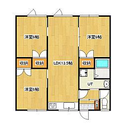East side apartment I[G号室]の間取り