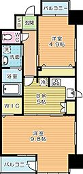 REGARIA KOKURAKITA CENTER PLACE[2階]の間取り