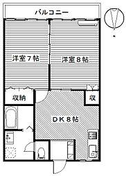 グレイスフルマンション[2階]の間取り