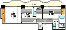 大阪府大阪市天王寺区四天王寺1丁目の賃貸マンションの間取り