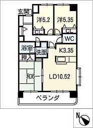 サンマンションアトレ青山202号室[2階]の間取り
