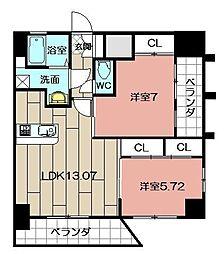 Studie TOBIHATA[907号室]の間取り