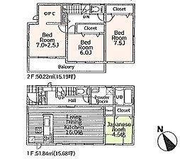 一戸建て(昭島駅からバス利用、102.05m²、2,980万円)