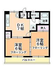 スズカンマンション[305号室]の間取り