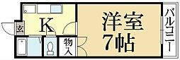 京都府京都市北区上賀茂葵之森町の賃貸アパートの間取り