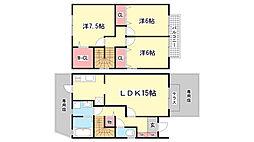 [テラスハウス] 兵庫県神戸市北区谷上西町 の賃貸【/】の間取り