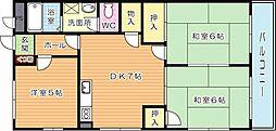 プレアール力丸II[4階]の間取り
