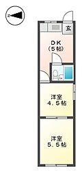杉栄ハイツ[2階]の間取り