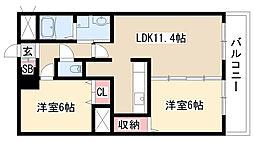 愛知県名古屋市守山区西島町の賃貸マンションの間取り