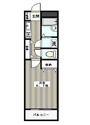 東京都板橋区常盤台2丁目の賃貸マンションの間取り