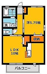 Y2ツルタパナハイツ[2階]の間取り