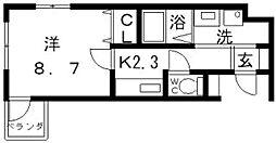 フェリシェユゥ[3階]の間取り