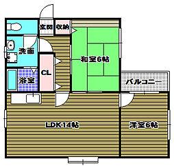 メゾン田中[3階]の間取り