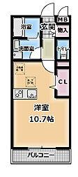オーシャンコートT[3階]の間取り