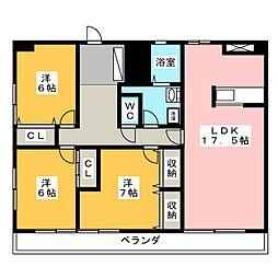 アジマコーポ[8階]の間取り