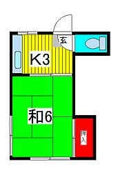 和風ハイツ[1階]の間取り