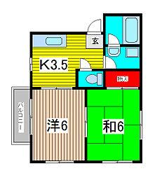 サンハイツ太田窪[2階]の間取り