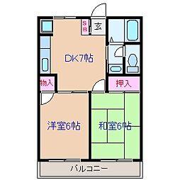 神奈川県横浜市鶴見区駒岡1丁目の賃貸マンションの間取り