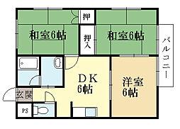 プレザント88[1階]の間取り