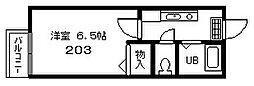 クリエイト天満B(家電付)[2階]の間取り