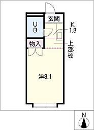 愛知県刈谷市松栄町1丁目の賃貸アパートの間取り