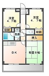 ラ・フォレ薬円台[6階]の間取り