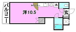 R2マンション[203 号室号室]の間取り