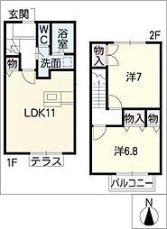 [タウンハウス] 愛知県大府市東新町6丁目 の賃貸【/】の間取り