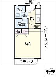 柳津パレス[2階]の間取り